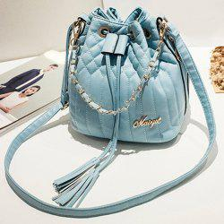 Quilted Tassel Chains Bucket Bag