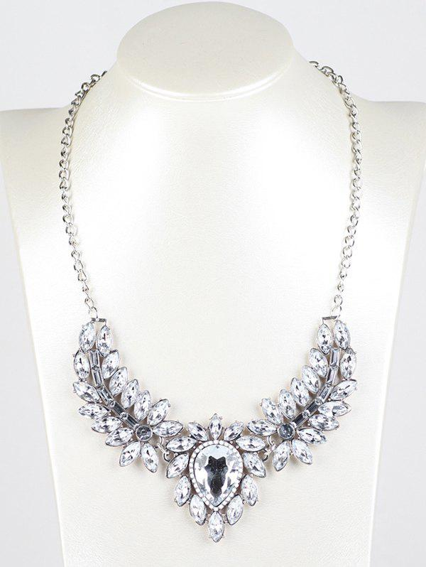 Best Faux Crystal Wings Pendant Necklace