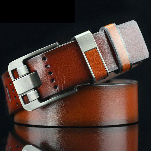 Shop Casual Pin Buckle PU Geometric Emboss Belt