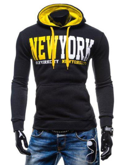 Shop New York Printed Kangaroo Pocket Pullover Hoodie