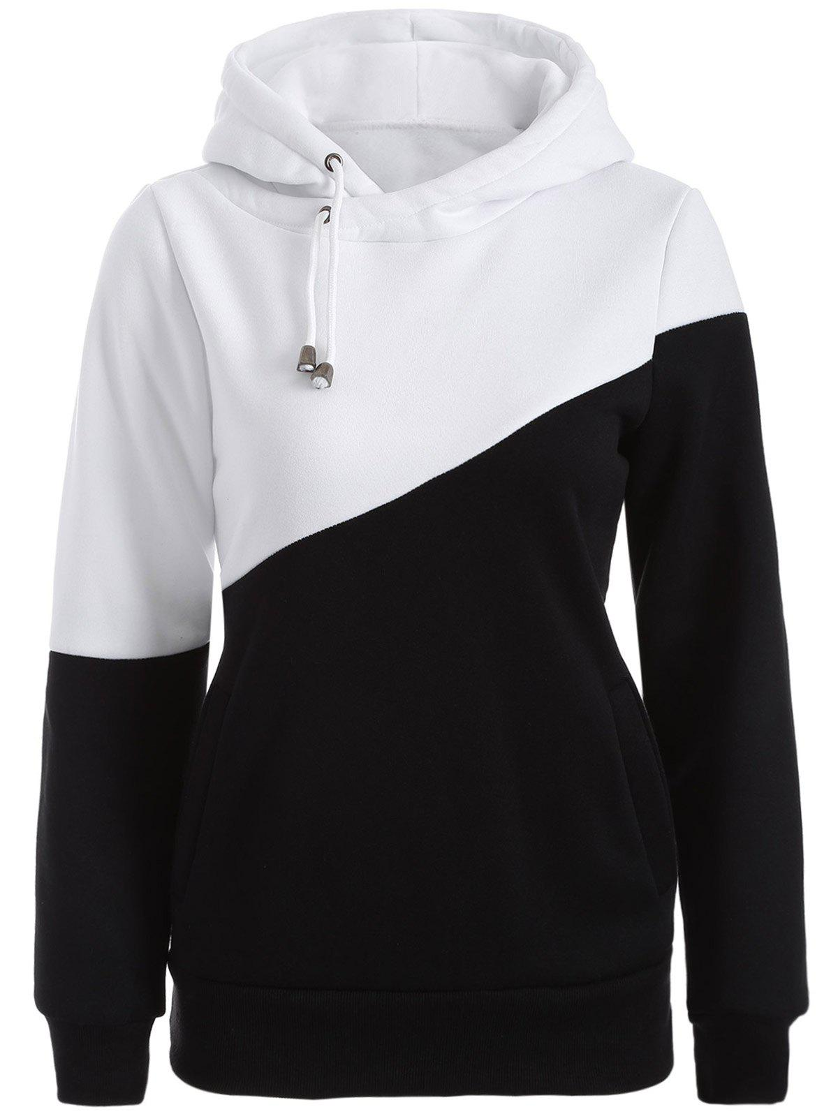 Fashion Color Block Casual Hoodie