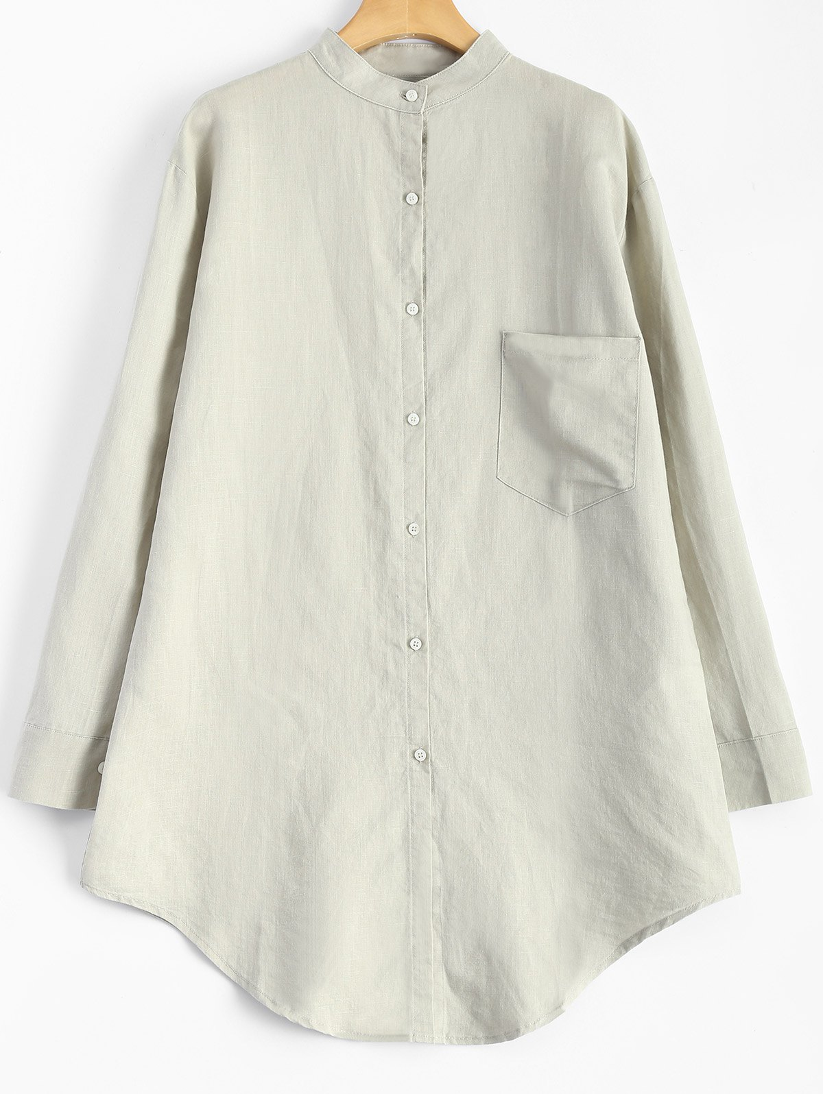 Sale Linen Loose Pocket Shirt