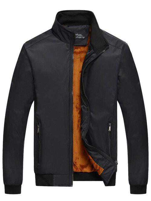 Zipper Pied De Col-Up Pocket Thermique Jacket Noir XL
