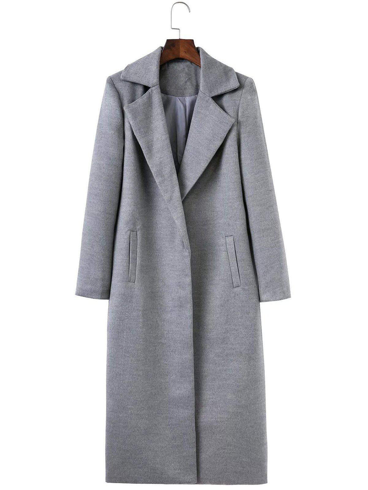 New Fitted Twin Pockets Wool Coat