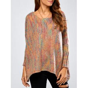 Asymmetric Baggy Jacquard Sweater