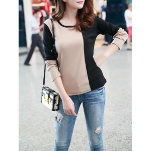 Color Block Casual T-Shirt