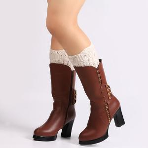 Warm Crochet Sipder Knit Boot Cuffs