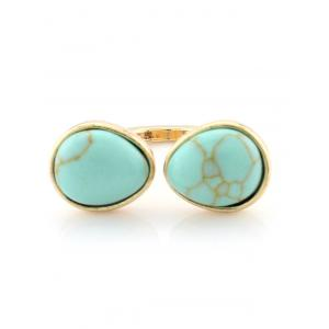 Faux Turquoise Geometric Ring