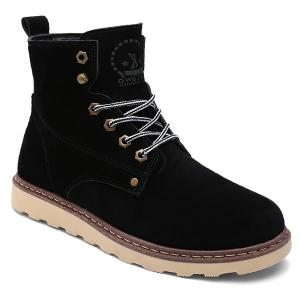 Eyelet Lace-Up Suede Short Boots