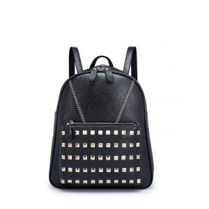 PU Leather Stitching Studded Backpack