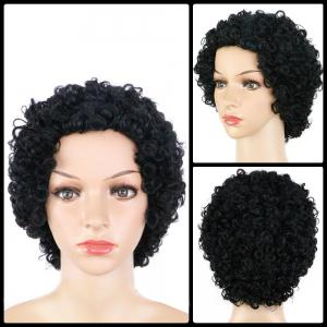 Sophisticated Short Curly Synthetic Wig