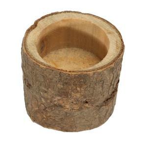 Creative Original Ecology Woody Candle Holder ( Without Candle ) - Brown