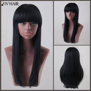 Long Neat Bang Straight Siv Human Hair Wig