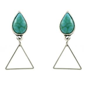 Waterdrop Turquoise Triangle Dangle Earrings