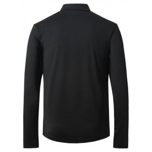 Turtle Neck Long Sleeve Thicken T-Shirt - BLACK 5XL