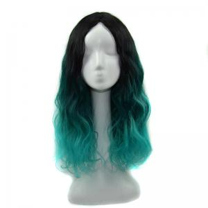 Long Shaggy Ombre Wavy Centre Parting Synthetic Wig -
