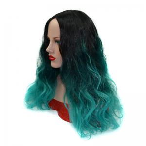 Wavy Long Shaggy Ombre Centre Parting Synthetic Wig -