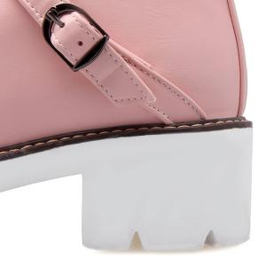 Buckle Strap Chunky Heel Ankle Boots -