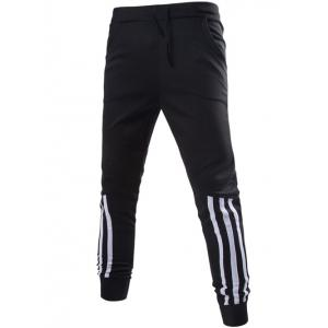 Stripe Spliced Beam Feet Jogger Pants