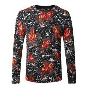 Pullover Horse Print Sweater
