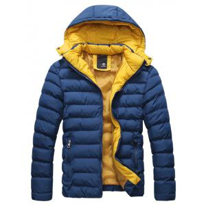 Detachable Hooded Zip-Up Thicken Padded Jacket