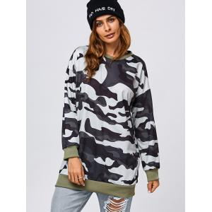 Camo Pattern Long Sweatshirt -