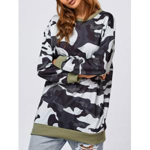 Camo Pattern Long Sweatshirt