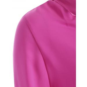 High Collar Pussy Bow Blouse -