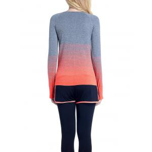 Running Ombre Yoga Long Sleeve Gym Top -