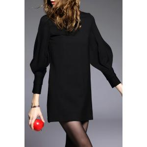 Puff Sleeve A Line Dress -