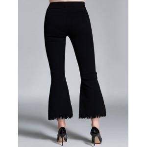 Plus Size Flare Ankle Pants -