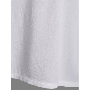 Embroidered Long Sleeve Peasant Blouse - WHITE ONE SIZE