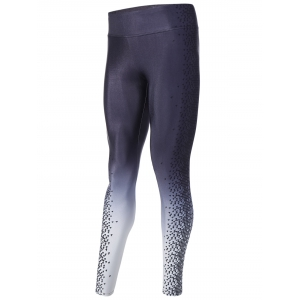 Casual Houndstooth Print Ombre Yoga Pants -