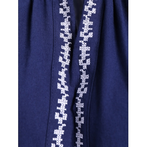Long Sleeve Embroidered Peasant Blouse -