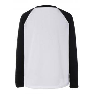 Black Friday Print Raglan Sleeve T-Shirt - WHITE AND BLACK XL