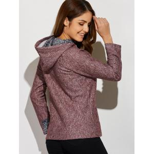 Inclined Zipper Front Pocket Hoodie -