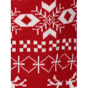 Christmas Jacquard Cute Plus Size Cardigan - RED 4XL