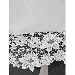 Off The Shoulder Lacework Splicing Blouse -