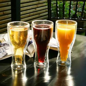 Magic Double Wall Inverted Beer Water Glass -