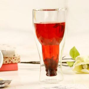 Magic Double Wall Inverted Beer Water Glass - TRANSPARENT