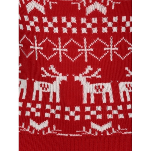 Plus Size Christmas Jacquard Knit Sweater - RED 3XL