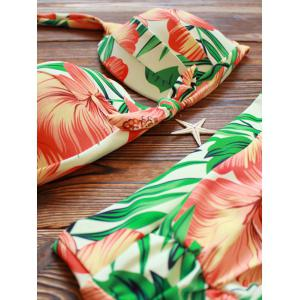 Halter High Waisted Floral Tropical Bikini -