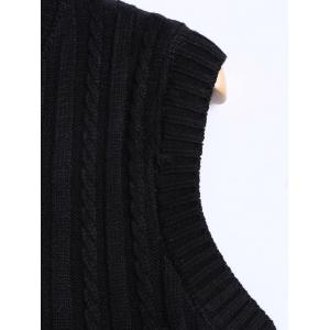 Casual Lace Pockets and Knit Patch PU Dress - BLACK ONE SIZE