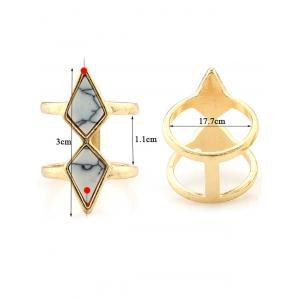Faux Turquoise Rhombus Cage Ring -