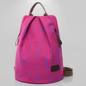 Casual Letter Print Canvas Backpack -