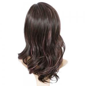 Long Side Parting Wavy Mixed Color Synthetic Wig - COLORMIX