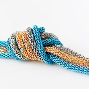 Ultra Long Knotted Pendant Necklace - LAKE BLUE
