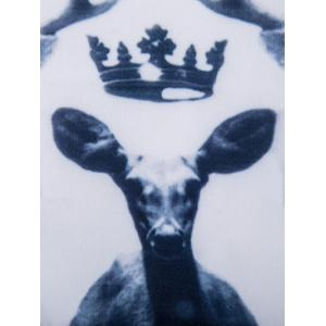 Crew Neck 3D Deer Print Long Sleeve Sweatshirt -