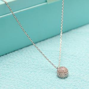 Round Bead Pendant Necklace -