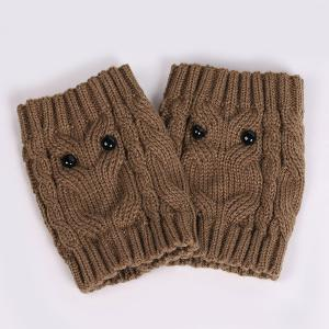 Warm Crochet Owl Knit Boot Cuffs -